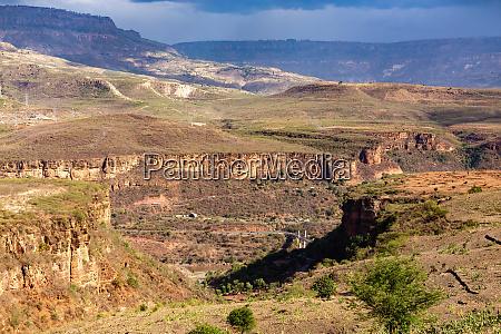 berglandschaft mit canyon AEthiopien