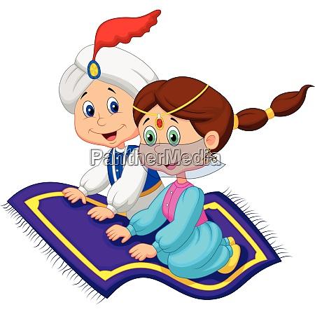 cartoon aladdin and jasmine