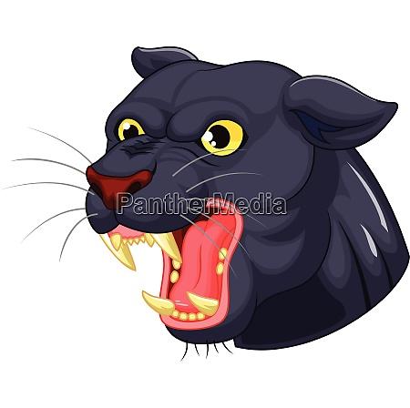 schwarzer pantherkopf