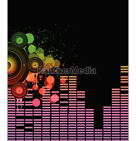 disco club flyer mit bunten elementen