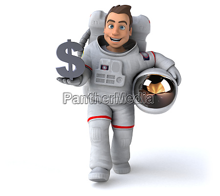spaß, astronaut, -, 3d-illustration - 27954869