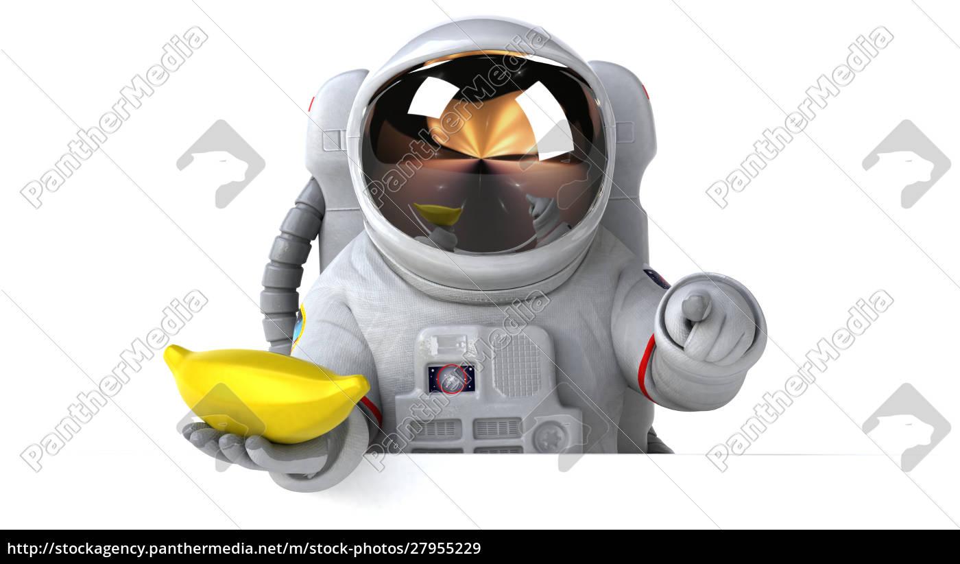 spaß, astronaut, -, 3d-illustration - 27955229