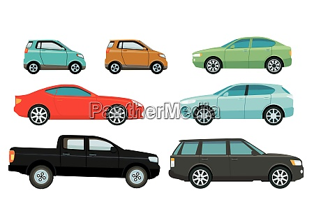 autos limousinen und suvs illustration