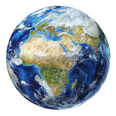 erde globus 3d illustration afrika und