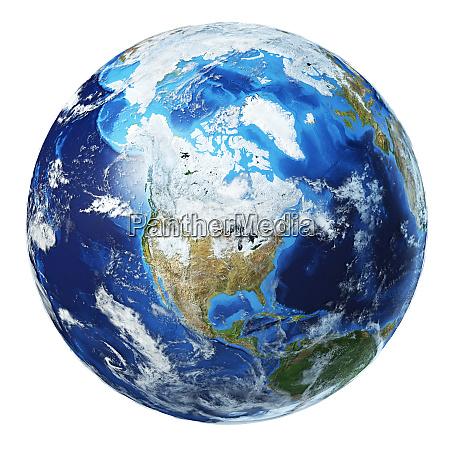 erde globus 3d illustration nordamerika ansicht