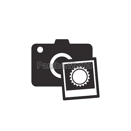 camera with summer sun photo black