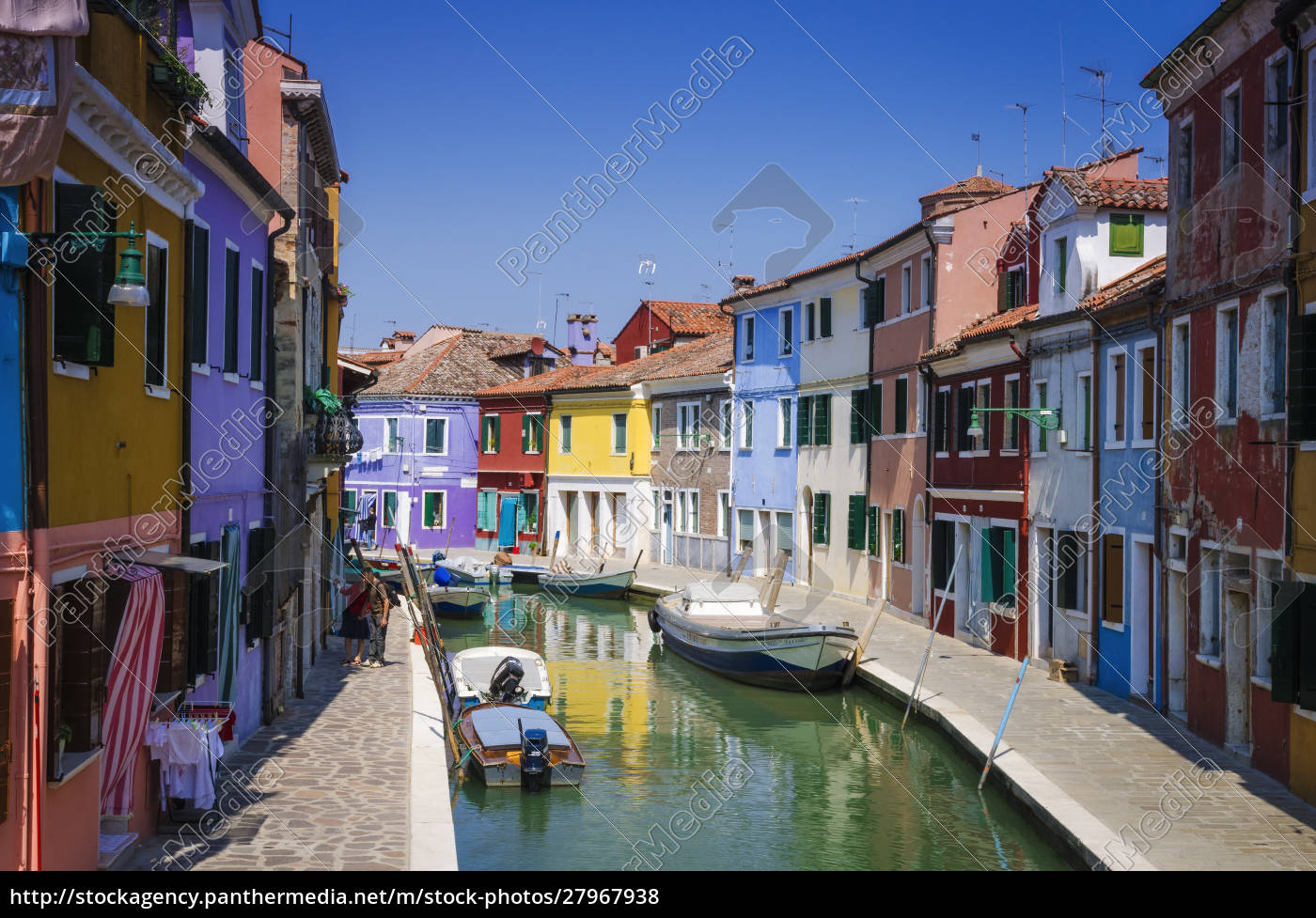 bunte, häuser, und, kanal, burano, venetien, italien - 27967938