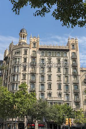 europe spain barcelona beautiful building on