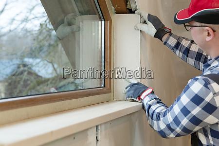 home improvement handwerker installation fenster in