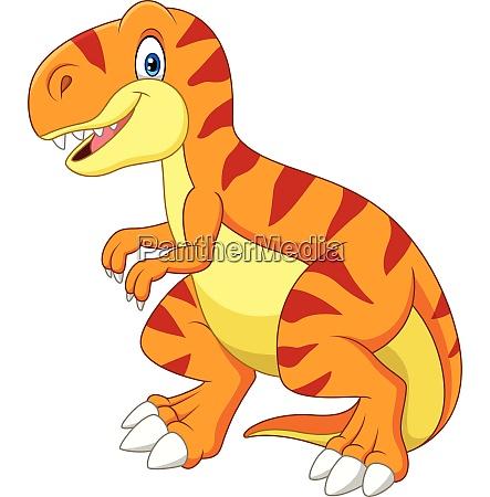 cartoon tyrannosaurus isoliert auf weissem hintergrund