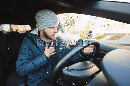 vaping an electronic cigarette whilst driving