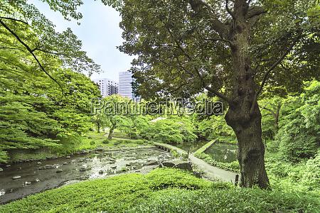 landschaft des koishikawa korakuen gartens in