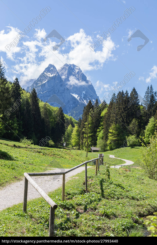 alps, panorama, garmisch-partenkirchen, bavaria, germany - 27993440