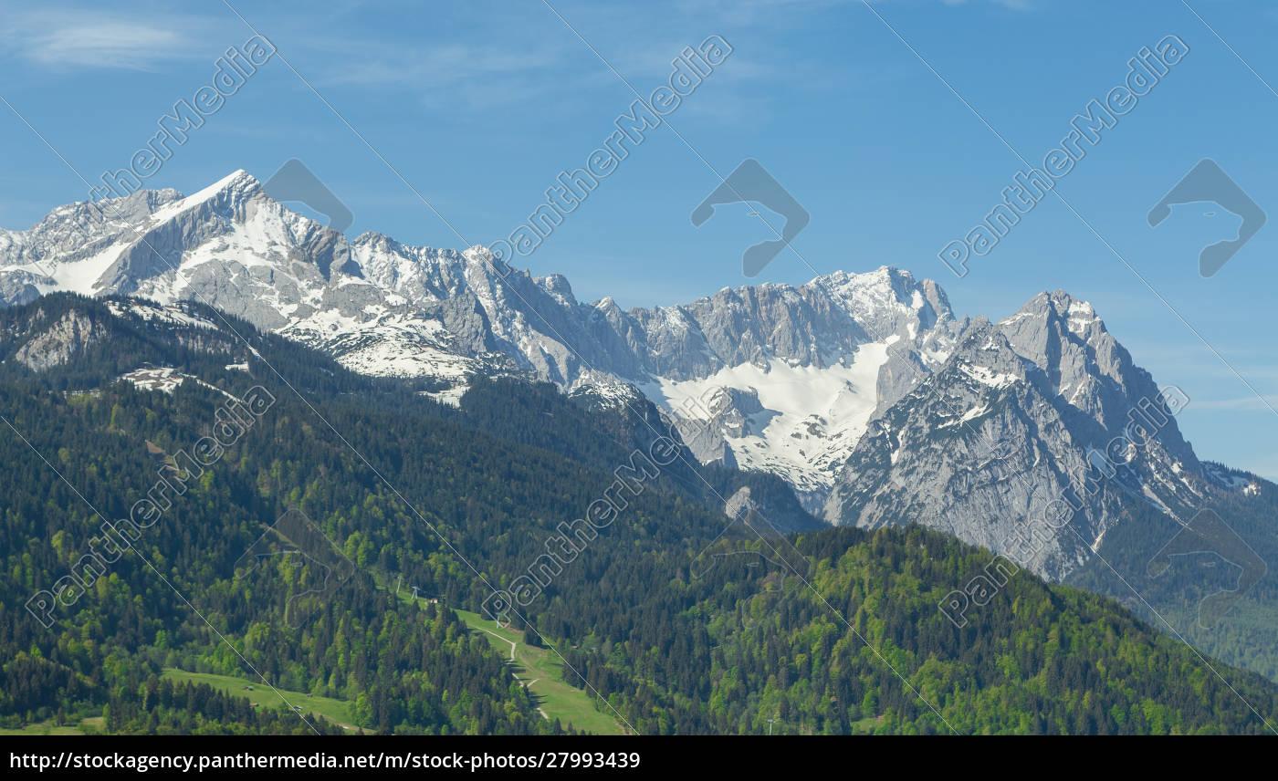 alps, panorama, of, garmisch-partenkirchen, bavaria, germany - 27993439