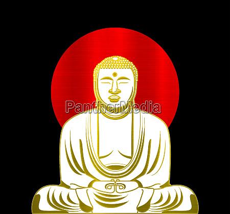 illustration golden buddha asiatische kultur alten