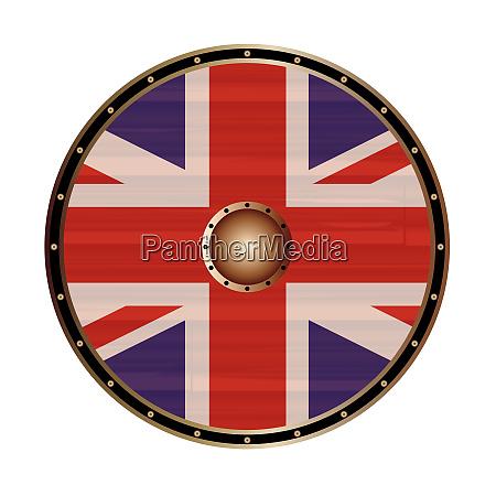 round, shield, mit, der, union, jack - 27996888