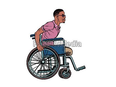 beinloser afrikanischer mann behinderter veteran im