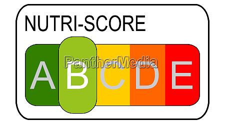 nutri score label level 5 farbiges