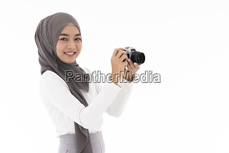 muslimische maedchen kamera