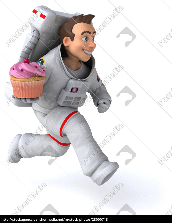 fun, astronaut, -, 3d, illustration - 28000713