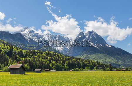 alpenpanorama garmisch partenkirchen bayern deutschland
