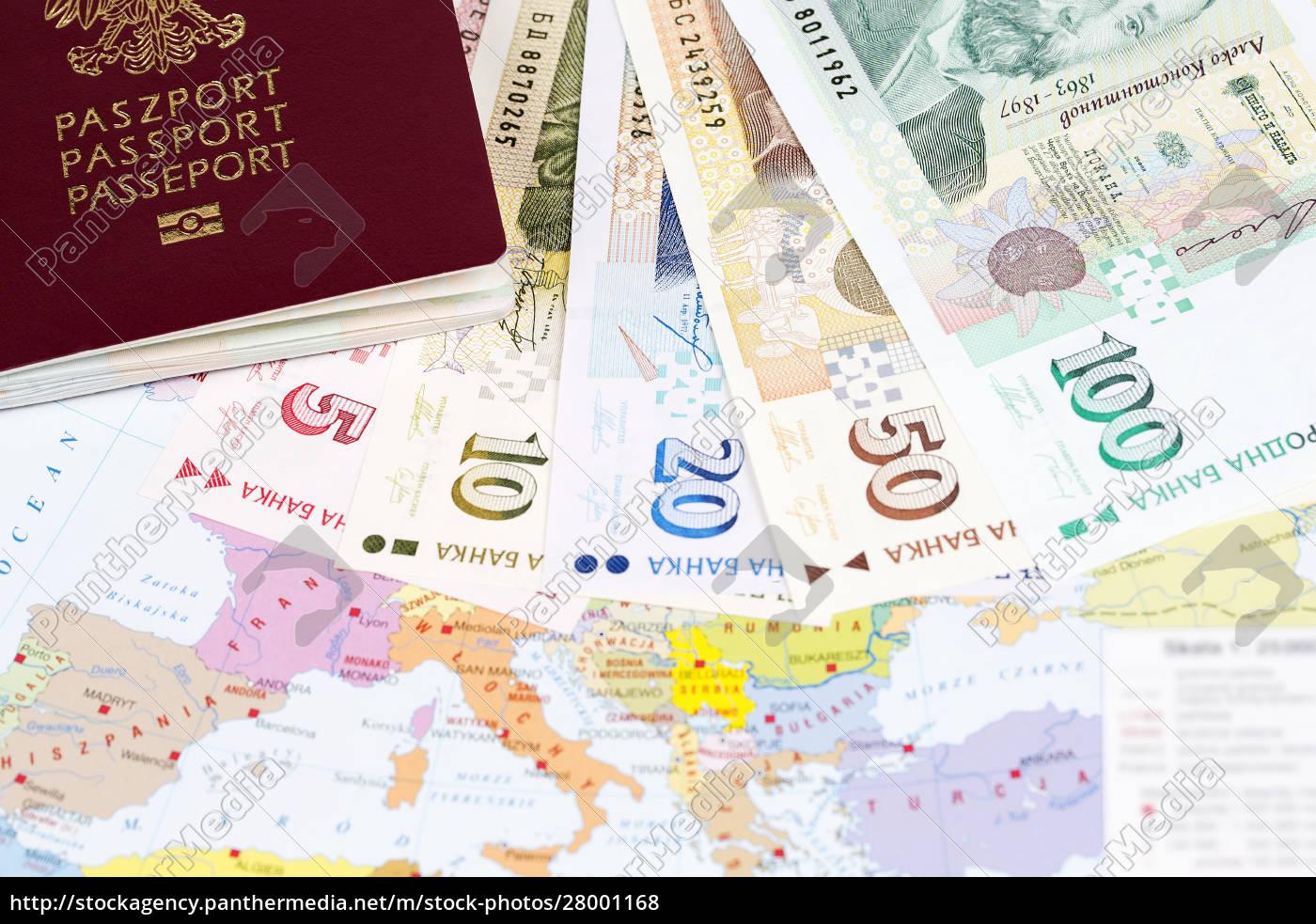 reisepass, mit, bulgarischem, geld, auf, der - 28001168