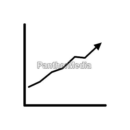 diagramm daten trend geschaeft statistiken linie
