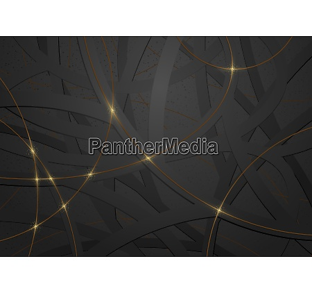 abstract geometric black and gold background