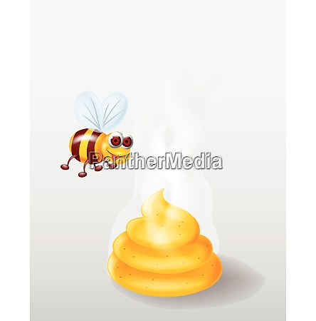 biene cartoon mit honig