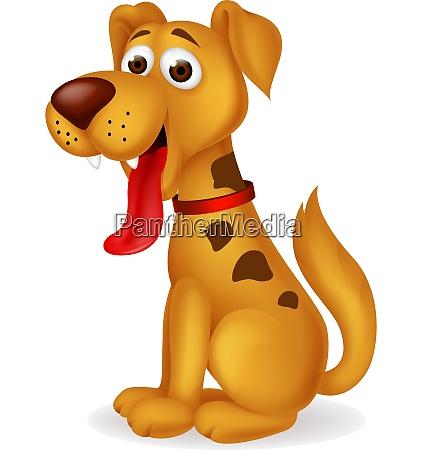 lustige hund cartoon