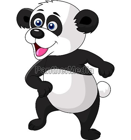 nette panda tanzen