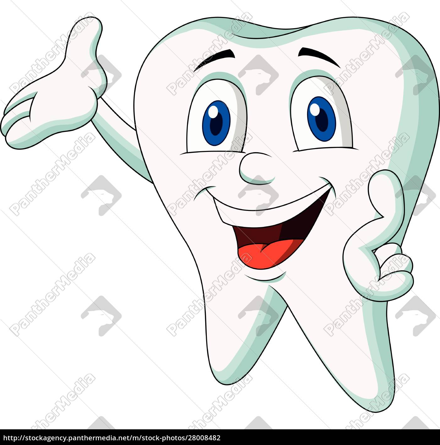 cute, tooth, cartoon, character, presenting - 28008482