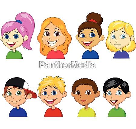 jungen und maedchen cartoon