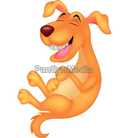 netter hund cartoon lachen