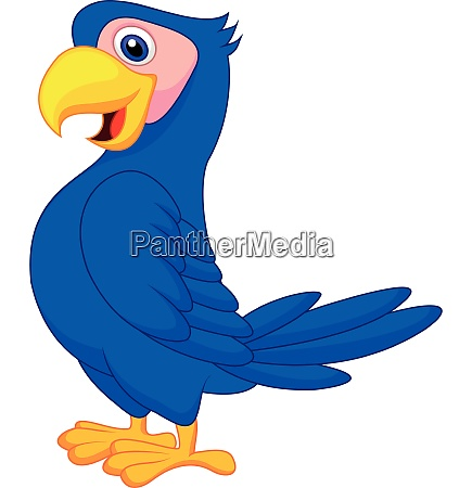 suesse blaue papagei cartoon