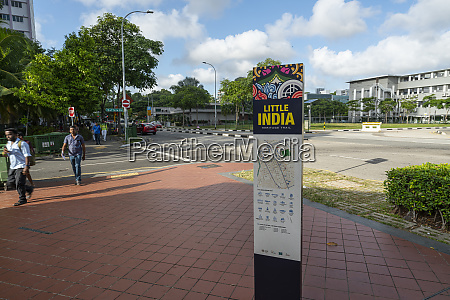 little india nachbarschaft in singapur