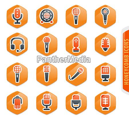 mikrofonsymbole gesetzt
