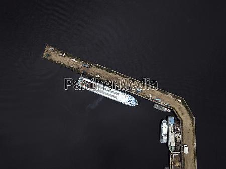 russland sankt petersburg luftaufnahme von schiffen