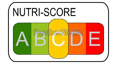nutri score label c 5 farbiges