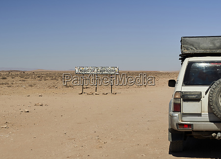 4x4 im tropic of capricorn namibia