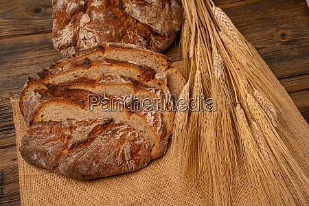 freshly whole grain bread and bread