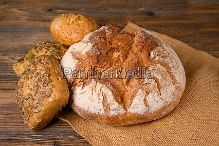 one fresh whole grain bread and