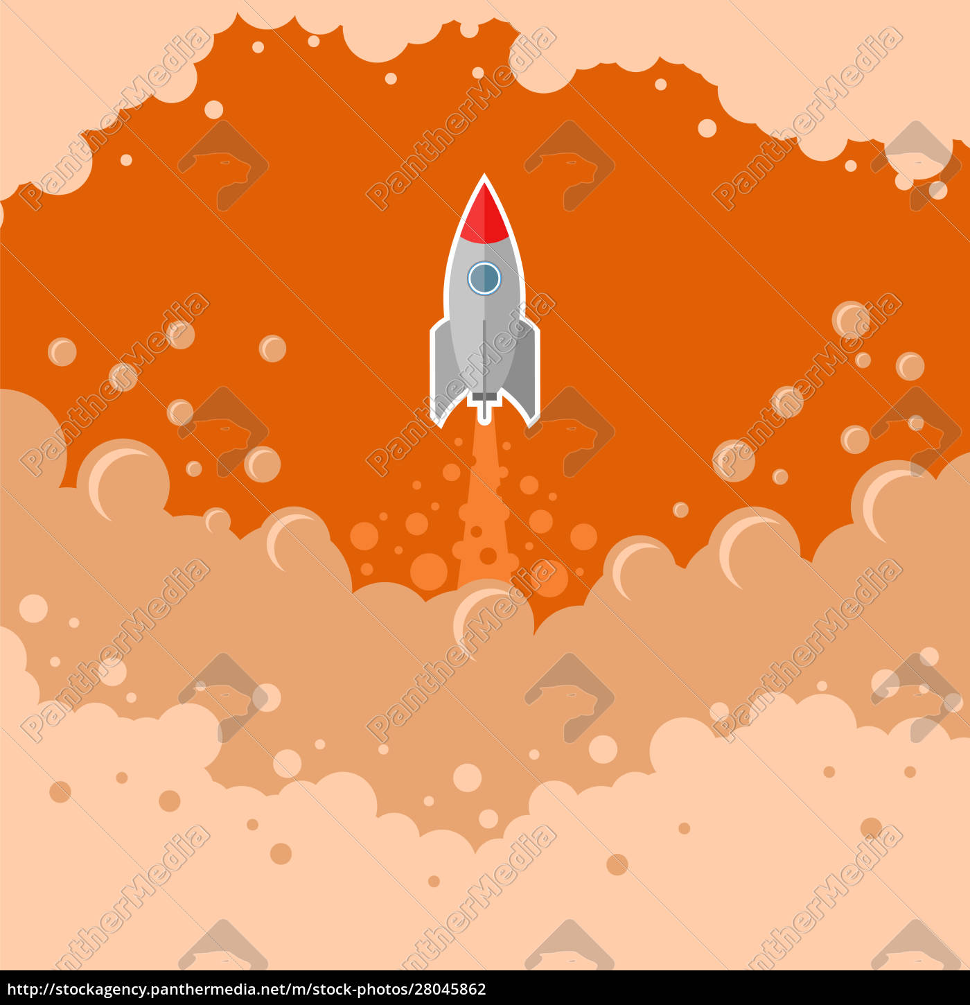 space, rocket, fly, auf, red, bubble - 28045862