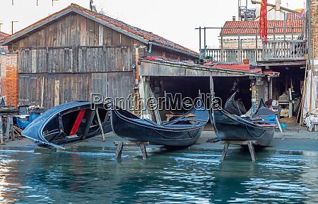 gondola shipyard in venice