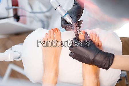 kosmetiksalon pedikuere polierverfahren