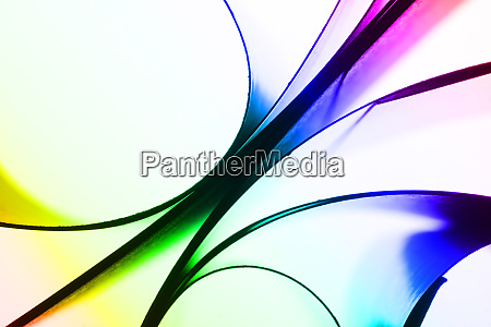 abstract colorful paper curves
