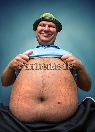sehr dicker mann