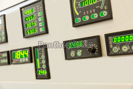 water control panel display buttons and