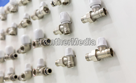 set of pipe fittings and fixturing