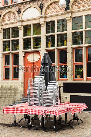 closed, street, cafe, , ancient, european, tourist - 28088661